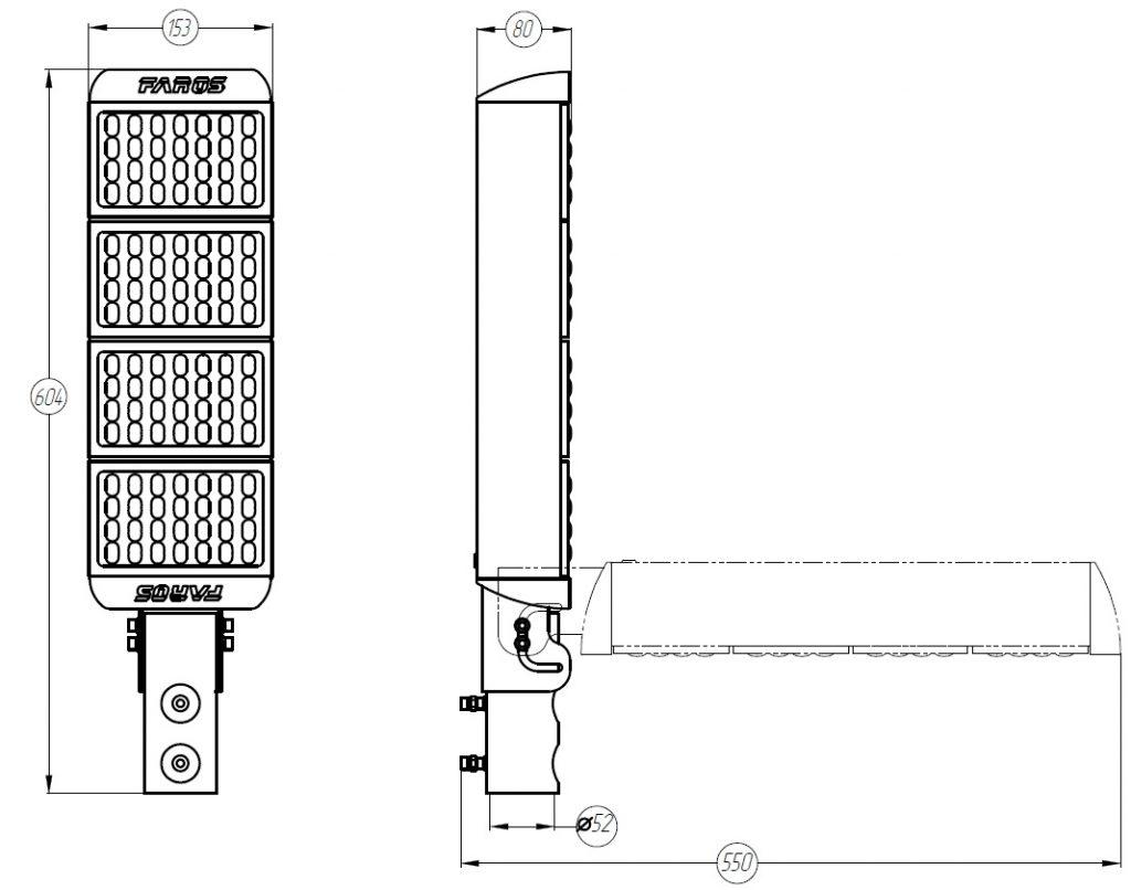 светодиодный светильник FP 150 100W mkdm-led.ru