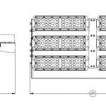 Светодиодный прожектор FG 100 600W MKDM-LED.RU
