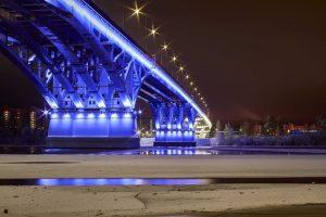 Архитектурная подсветка мост г. Дубна mkdm-led.ru